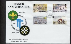 1977 Scouts Isle of Man cycling FDC
