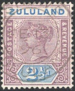 ZULULAND-1894 2½d Dull Mauve & Ultramarine Sg 22 FINE USED V50122