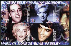 Timor 2004 Elvis Presley & Marilyn Monroe #02 imperf ...