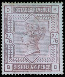 SG175, 2s 6d lilac, LH MINT. Cat £6750. BLUED PAPER. BD