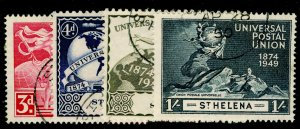 ST. HELENA SG145-148, COMPLETE SET, VERY FINE USED.