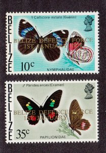 Belize Scott #395-396 MNH