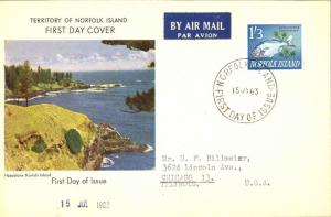 Norfolk Islands 1/3 Dreamfish 1963 Norfolk Island, First Day of Issue Airmail...
