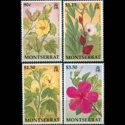 MONTSERRAT 1994 - Scott# 840-3 Hibiscus Flowers Set of 4 NH
