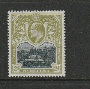 St Helena 1903 2d Black/Green MM SG 57