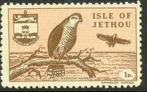 ISLE OF JETHOU CHANNEL ISLANDS 1961 1d HAWK No. 6 MNH