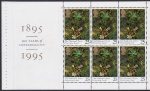 1607a 1995 National Trust Booklet Pane MNH
