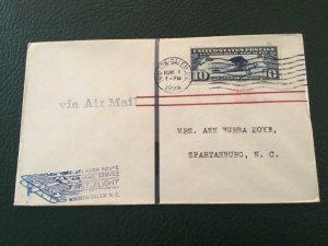 ICOLLECTZONE US First Flight FF May 1, 1929 Winston-Salem to Spartanburg (C200)