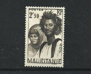 MAURITANIA  1938 - 40  2F 50  BLACK BROWN           MH