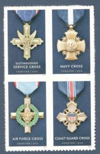 5065-68 The Service Cross Medals Block Of 4 Mint/nh FREE SHIPPING