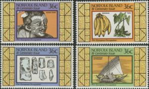 Norfolk Island 1986 SG401-404 Settlement 2nd issue set MNH