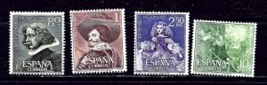 Spain 983-86 MNH 1961 Velazquez Paintings