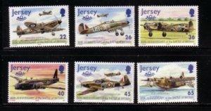 Jersey Sc  964-69 2000 Battle of Britain stamp set mint NH