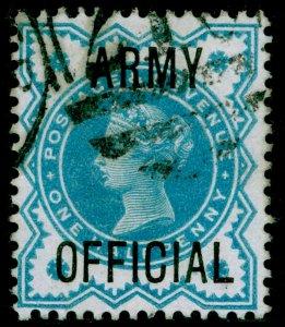 SGO42, ½d blue-green, FINE USED. Cat £15.