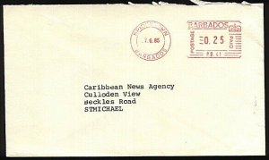 BARBADOS 1985 local cover 25c meter - PB41 Barclay's Finance...............23995