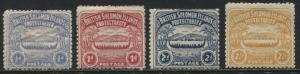 Solomon Islands 1907 1/2d to 2 1/2d values mint o.g.