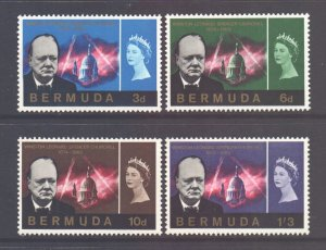 Bermuda Scott 201/204 - SG189/192, 1966 Churchill Set MH*