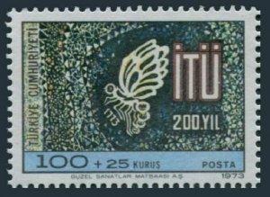 Turkey B146 two stamps, MNH. Michel 2279. Istanbul Technical University, 1973.