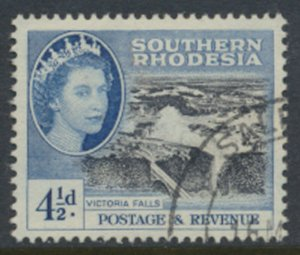 Southern Rhodesia  SG 83  SC# 86  Used Victoria Falls  see scans
