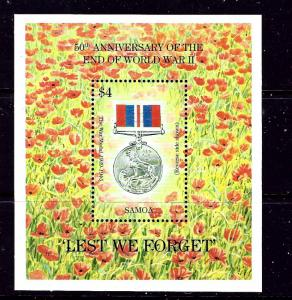 Samoa 894 MNH 1995 End of WWII Anniversary S/S