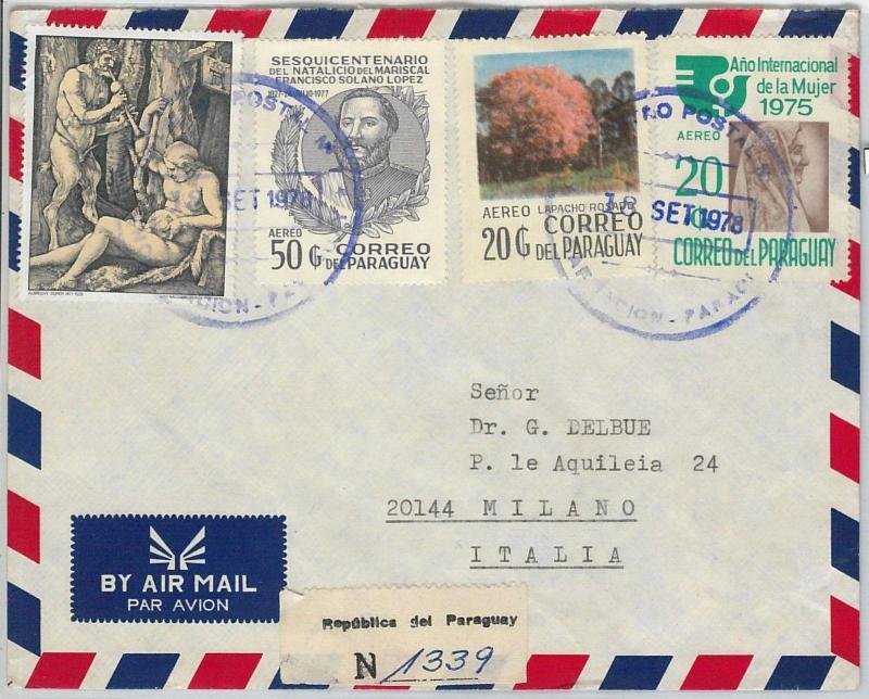 63125 - PARAGUAY - POSTAL HISTORY - COVER 1978  :   ART