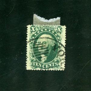 UNITED STATES 10c WASHINGTON   SCOTT#35    USED--SCOTT $55.00