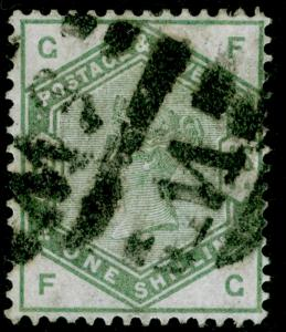 SG196, 1s dull green, USED. Cat £325. FG