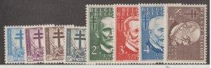 Belgium Scott #B547-B554 Stamps - Mint Set