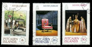 PITCAIRN ISLANDS SG171/3 1977 SILVER JUBILEE FINE USED