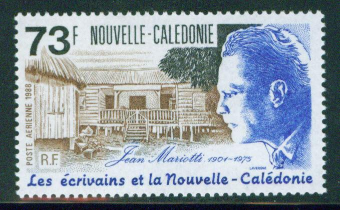 New Caledonia (NCE) Scott 603 MNH** 1988 Mariotti Writer