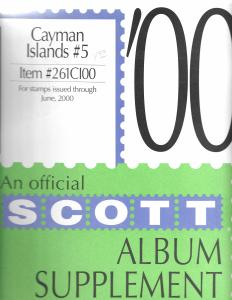 Scott Cayman Islands #5 Supplement 2000