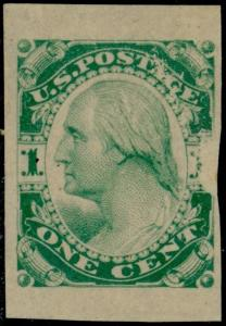 #182-E3a PLATE ESSAY ON STAMP PAPER, IMPERF UNGUMMED (BLUE GREEN) BQ5689