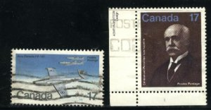 Can #873,877   -3     used VF 1980 PD