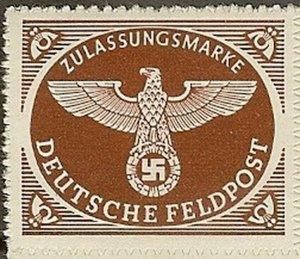 Stamp Germany Feldpost Mi 2 Sc MQ1 1942 WWW2 3r Reich War Era Wehrmacht MNH