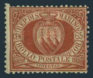 San Marino 20,hinged.Michel 19. Coat of Arms,1892.