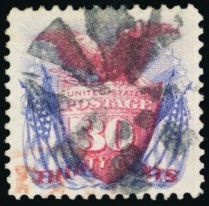 121, Used XF/Superb 30¢ Eagle A GEM With PFC Certificate - Stuart Katz