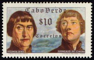 Cape Verde #278 Vicente Dias and Goncalo de Cintra; Unused (1Stars)