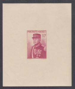 Monaco Sc 159 MNH. 1938 10fr Prince Louis II imperf Souvenir Sheet, small gum cr