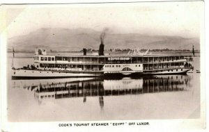Egypt Card Cairo *COOK'S TOURIST STEAMER* Luxor Finer Real Photo PPC 1928 30.4