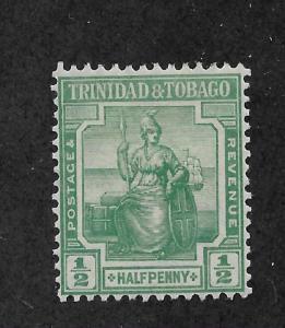 Trinidad & Tobago 1921 Scott # 12,VF Mint Hinged*OG, Fresh Color !! (SP-3)