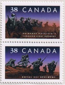 Canada Mint VF-NH #1250a Infrantry Regiments pair