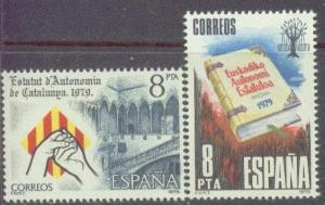 Spain 2174-75 MNH 1979 Catalonian& Basque Statue