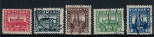 Denmark #156-60  CV $18.85