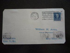 Cuba - Postal History - Cover - Scott#282 Imperf - First Flight