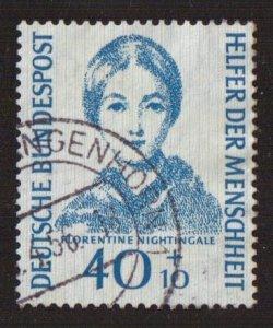 Germany  #B347  used  1955  portraits  40pf