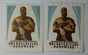 Munchen Exhibition of Bavarian Crafts Exposition Poster Stamp Ads