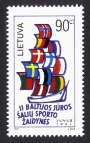 Lithuania Sc# 578 MNH 2nd Baltic Sea Games