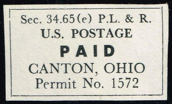 Postage Paid Permit Cut Square