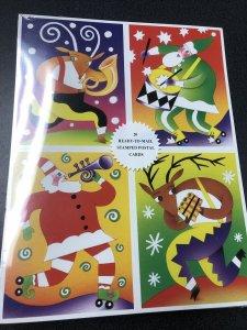 2003 UX401-404 MNH Sealed Pack of 20 Holiday Music Maker Postal Cards 23c