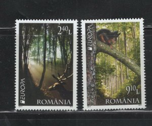 Romania  #5261-62 (2011 Europa Forests set) VFMNM CV $8.25